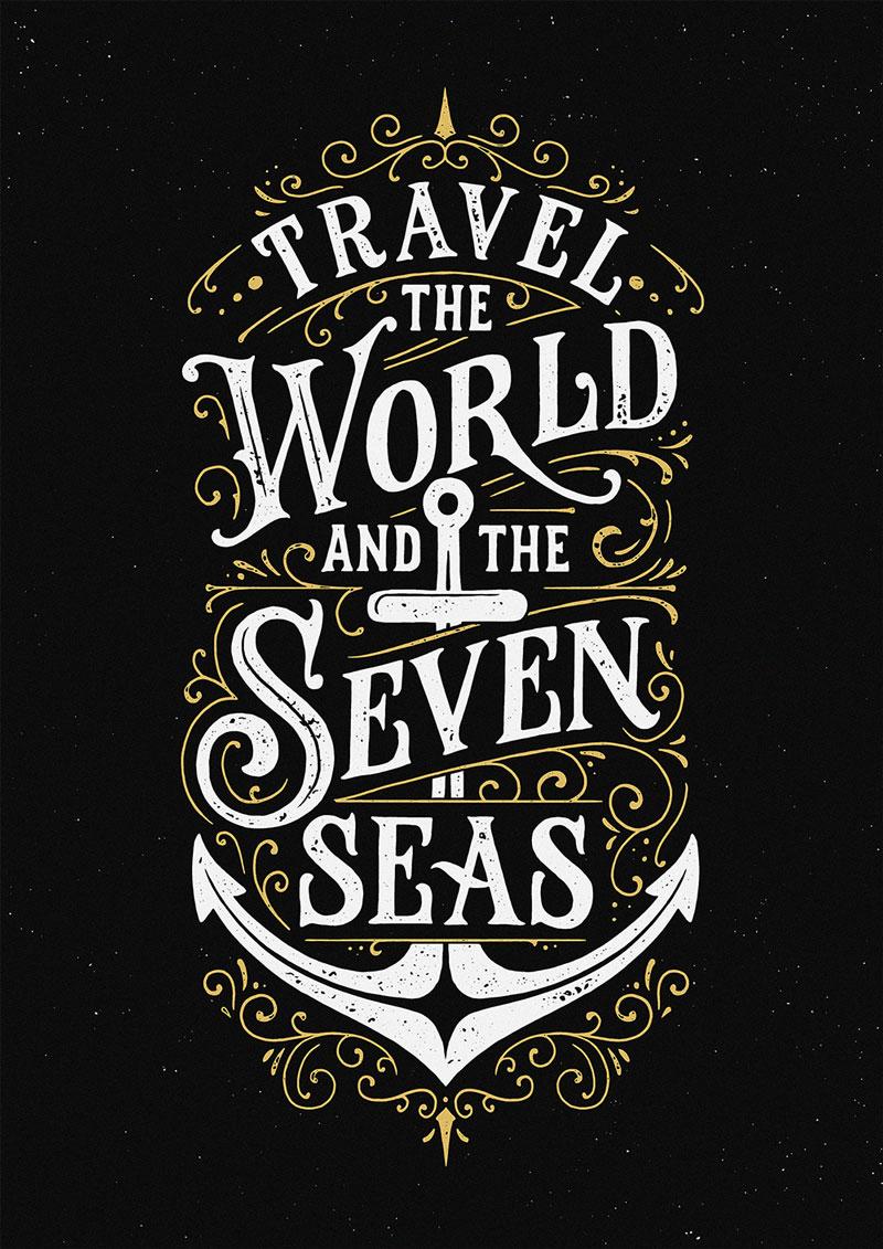 Tobias Saul手绘字体海报设计