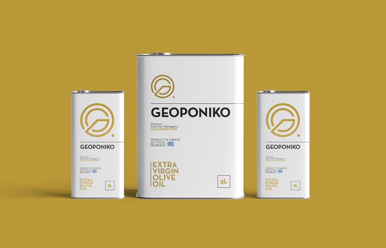 Geoponiko初榨橄榄油包装设计