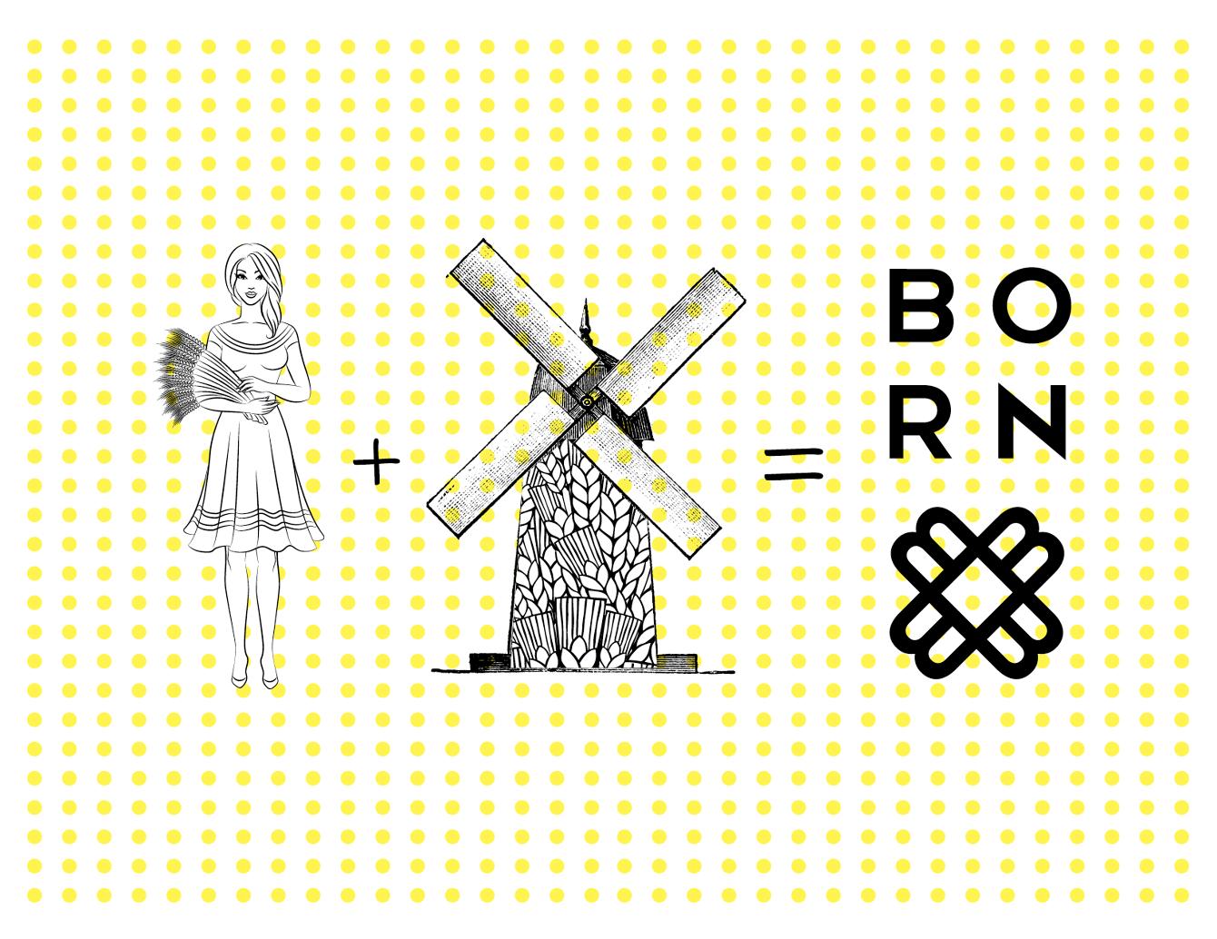 BORN面包品牌形象设计