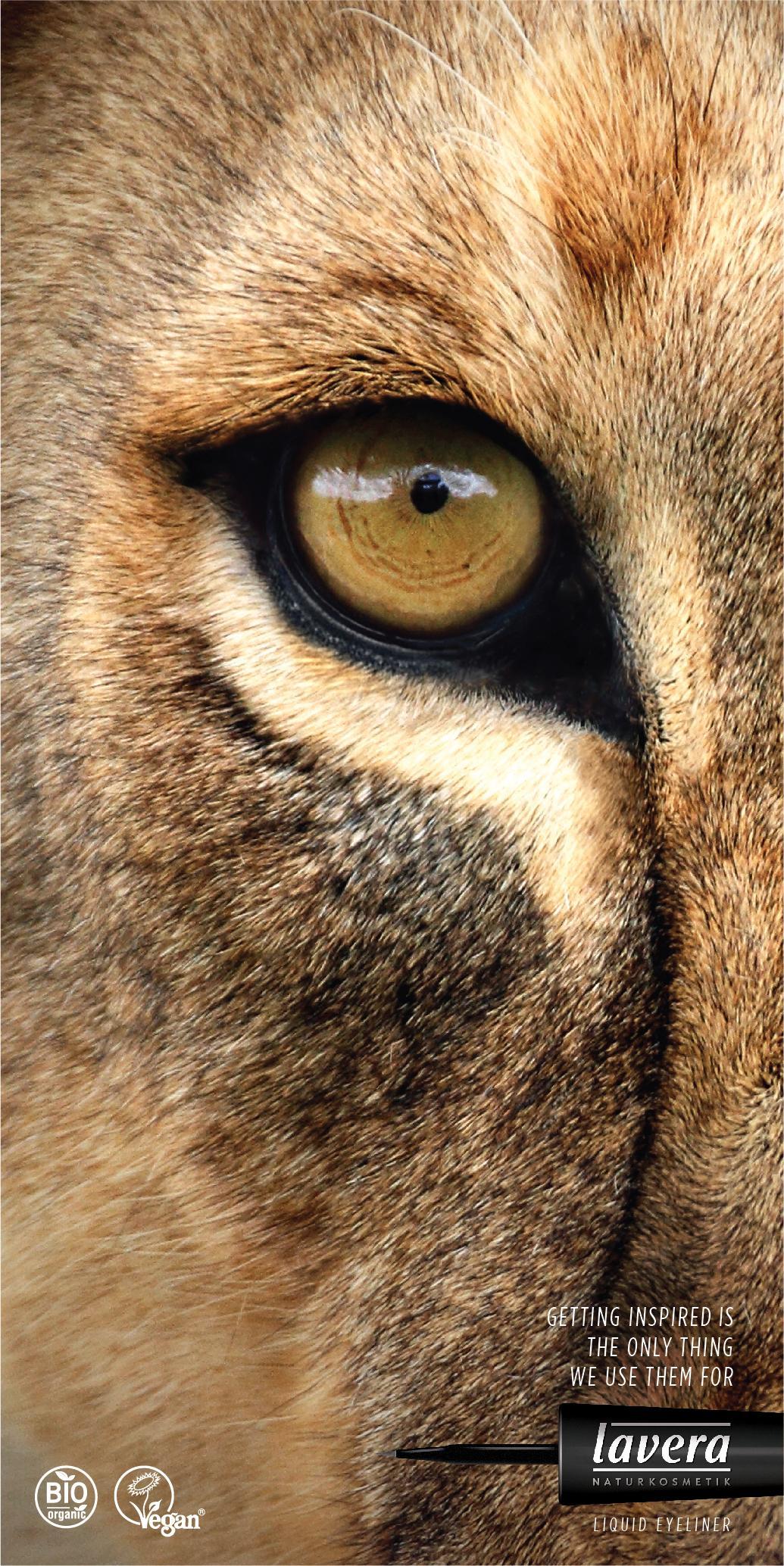 获得灵感是我们使用它们的唯一目的:Lavera眼线笔广告