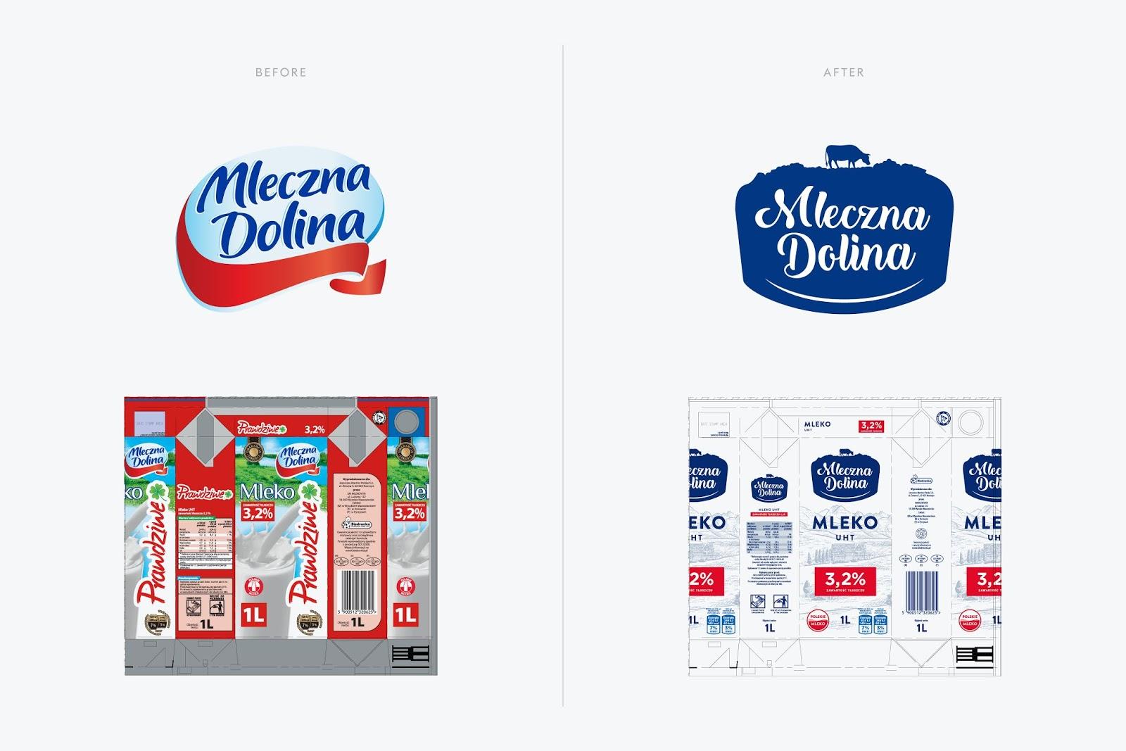Mleczna Dolina乳制品包装设计