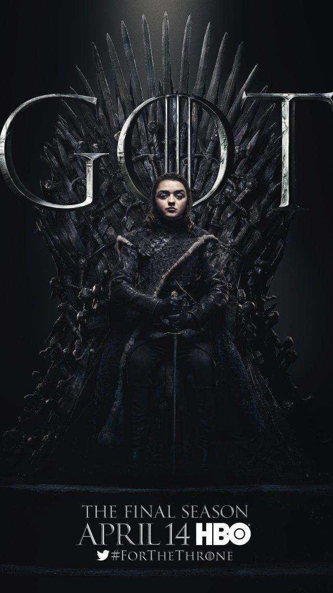 《权利的游戏》(Game of Thrones)最后一季角色海报设计