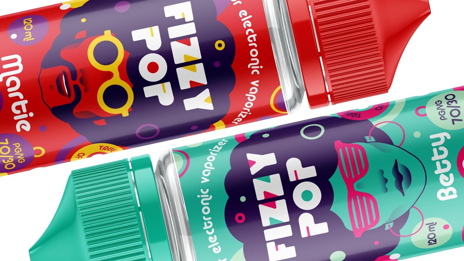 Fizzy Pop电子烟液包装设计