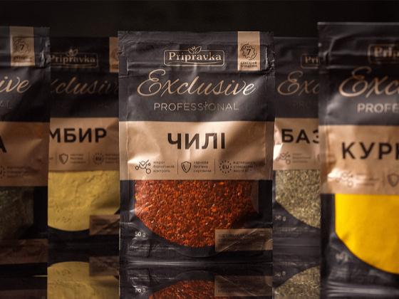 Exclusive Professional厨房调味料包装设计