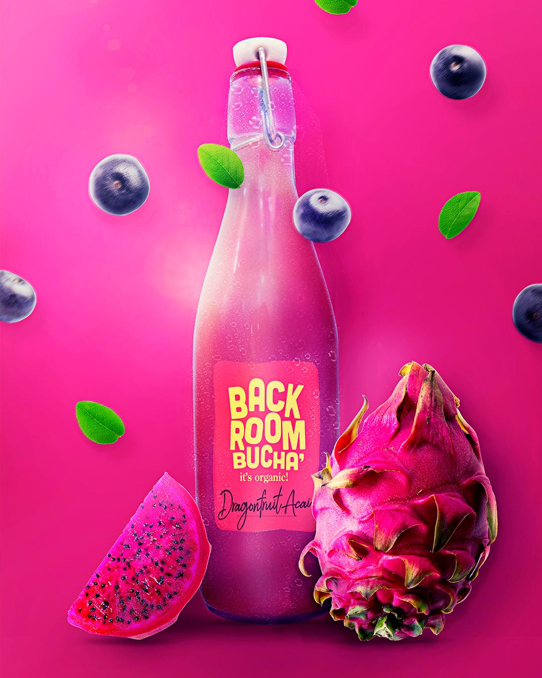 Back Room Bucha果汁包装设计