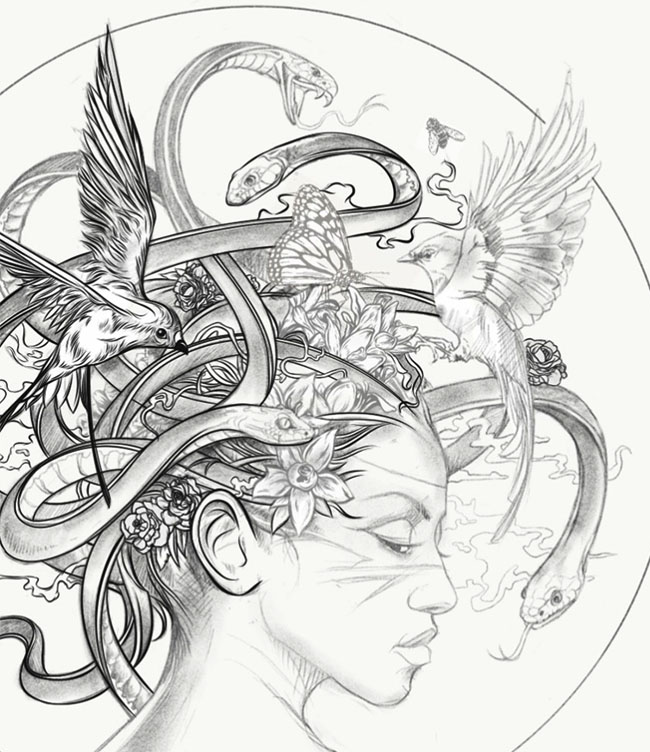 美国Brian Yap美杜莎女王插画设计欣赏