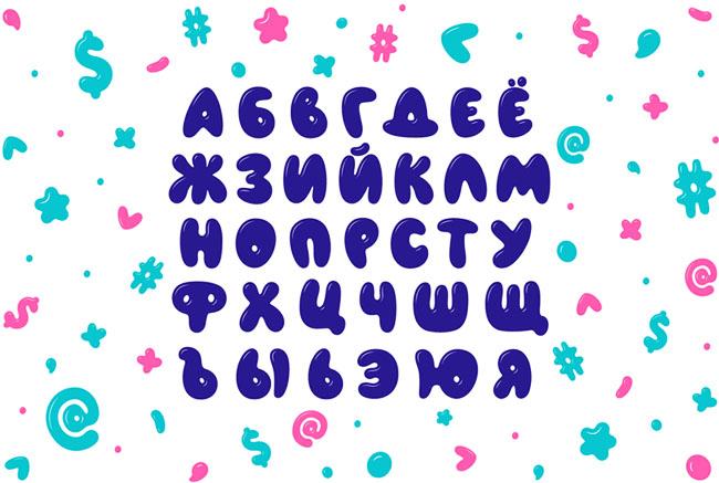 童趣风格的AIRFOOL英文字体设计