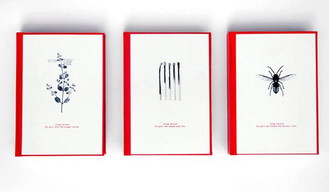 Stieg Larsson系列创意书籍设计作品