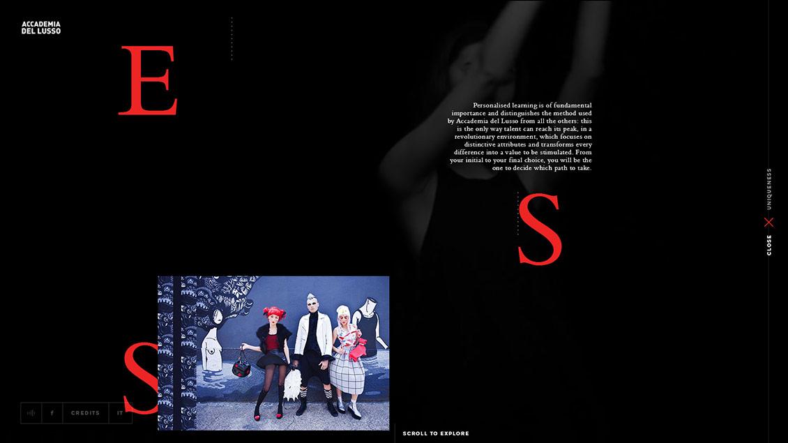 米兰时装与奢侈品学院网站设计