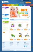 彩色的儿童玩具商店网站设计作品欣赏