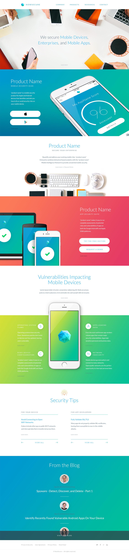 Now Secure概念网页设计模板