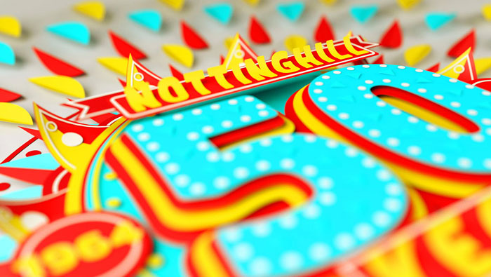 Nottinghill夏日狂欢派对50周年字体设计