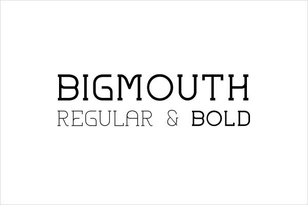 纤细优美的Bigmouth英文字体