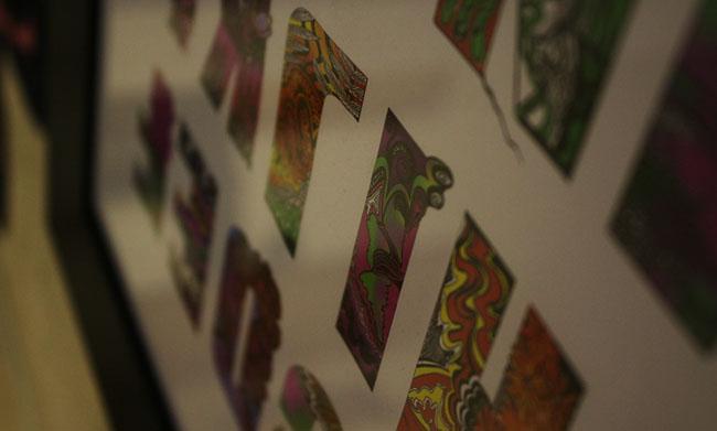 英国设计师Karina Thacker花纹字体设计作品