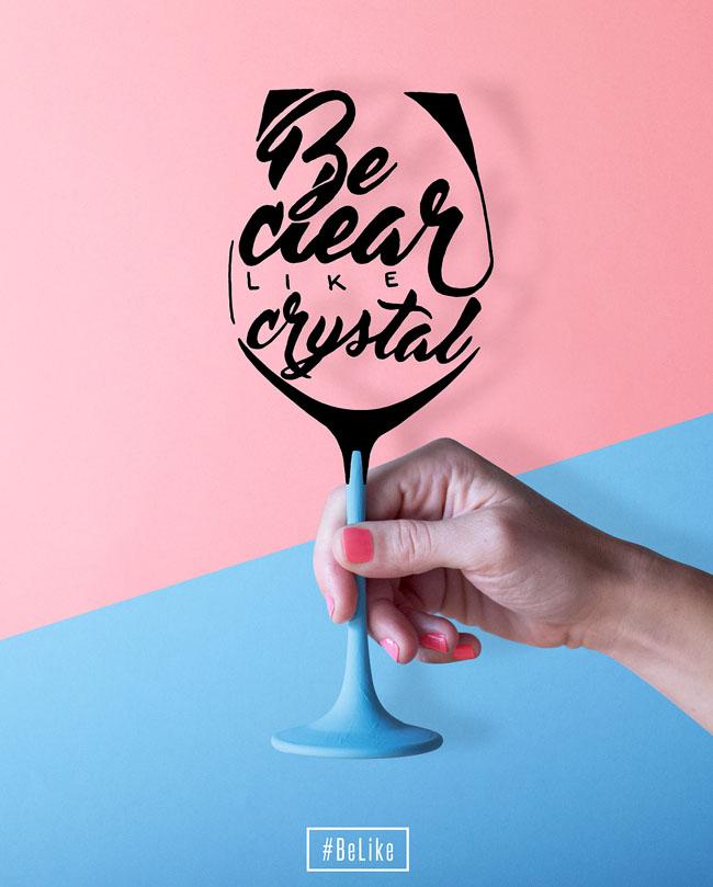 BeLike系列创意字体海报设计