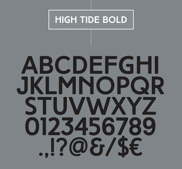 HIGH TIDE英文字体设计