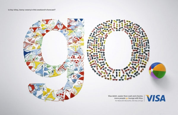VISA GO系列广告字体设计