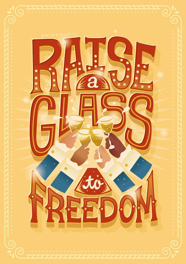 菲律宾设计师Risa Rodil字体海报设计作品(六)