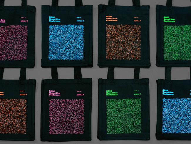 国外BOCONF品牌发布会时尚花纹字体设计(二)