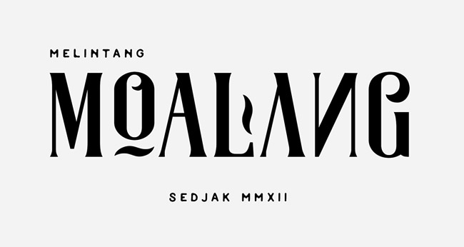 漂亮的Moalang英文字体设计5P