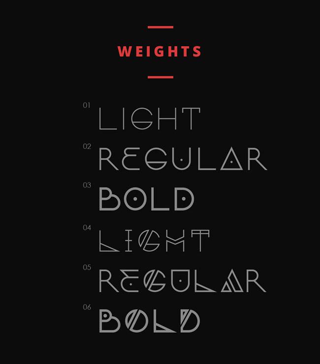 Nordic创意英文字体设计