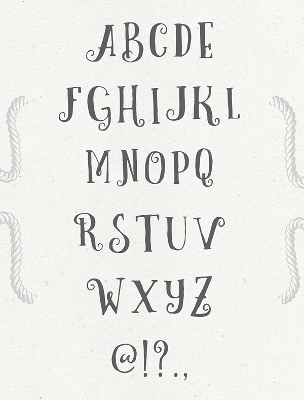 适合甜美可爱设计主题的Curely字体