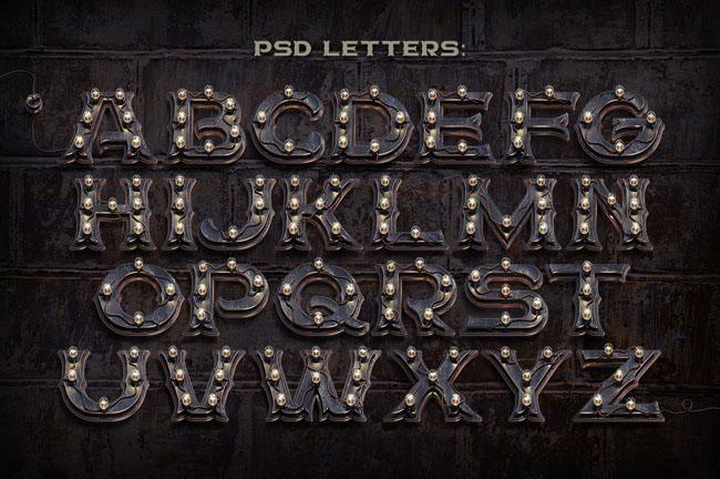 BIG City Light创意3D英文字体设计