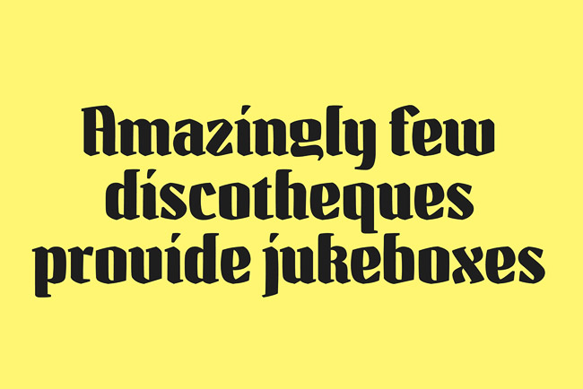 粗壮却美观的Guillemet英文字体设计