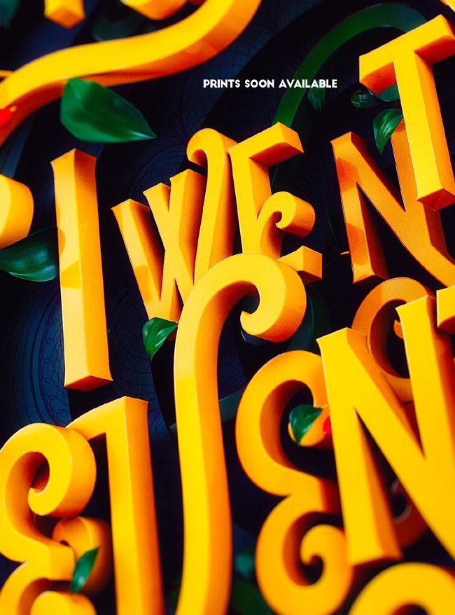 Katt Phatt漂亮的立体字设计作品(二)