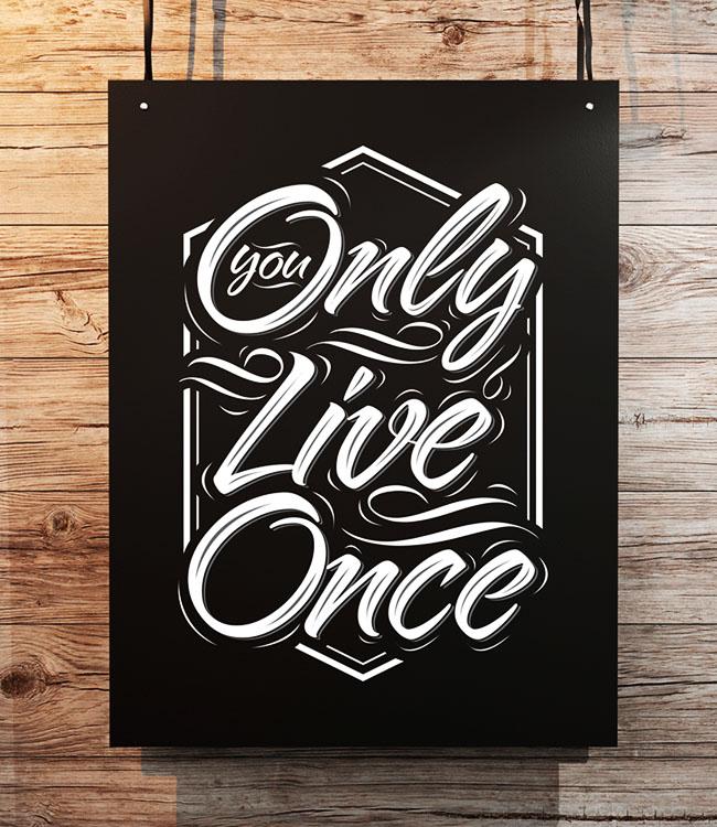 8幅精致的字体海报设计作品