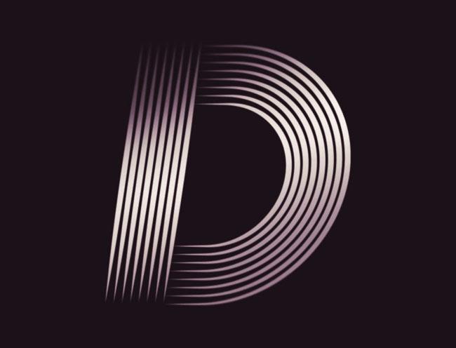 多线形式的Road英文字体设计