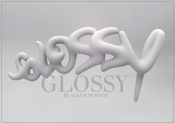 法国设计师Alexis Persani绚丽的立体字设计(七)