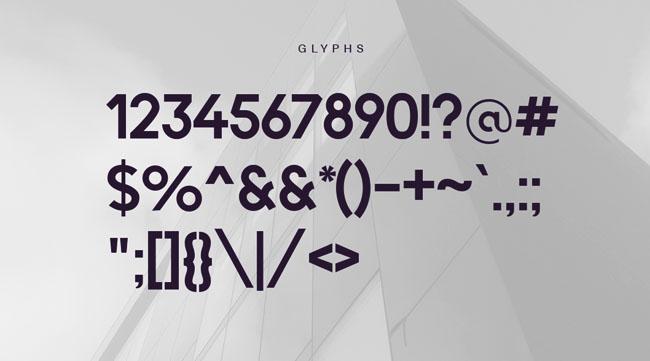 漂亮实用的Quantify v2英文字体设计