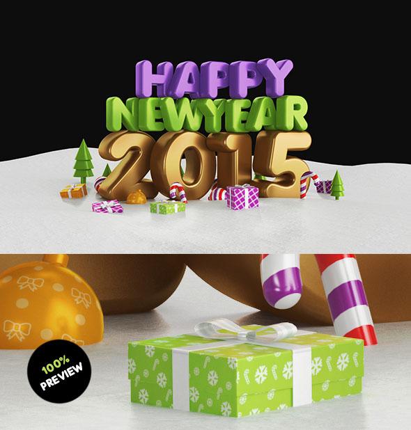 2017英国Nick Bash新年快乐主题字体设计