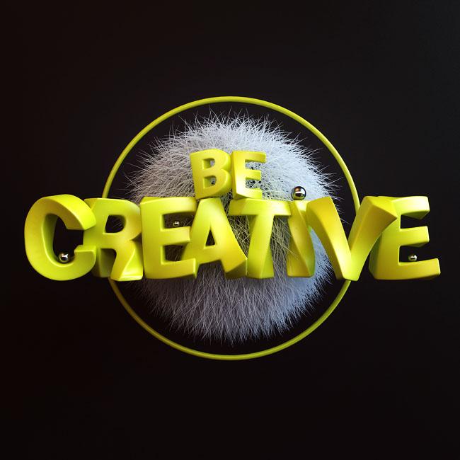 国外设计师Webshocker漂亮的3D字体设计作品
