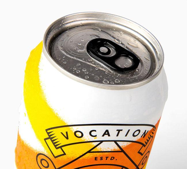 国外简单漂亮的Vocation罐装啤酒包装设计欣赏