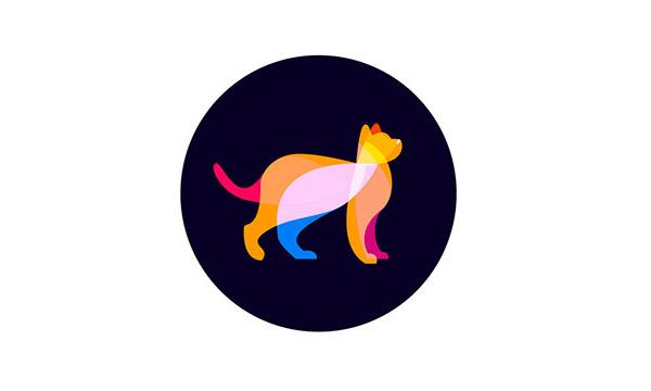17个以猫咪元素形状logo标志设计欣赏
