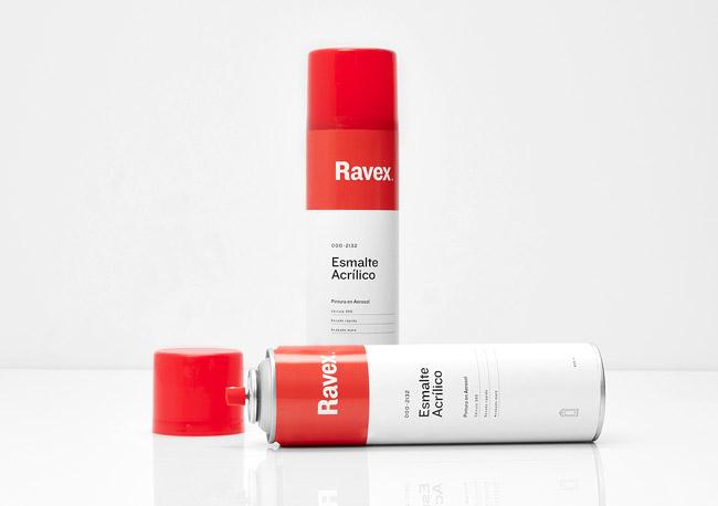 国外Ravex工业涂料与油漆品牌VI形象设计(二)