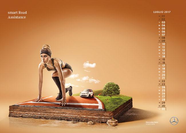意大利设计师alessandro奔驰2017日历设计
