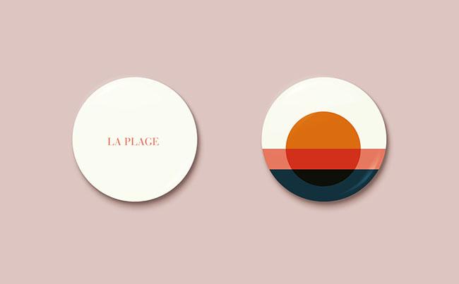 国外简洁风格的LA PLAGE专辑CD设计