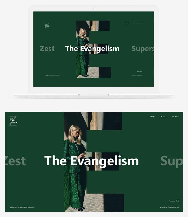4套Zest时尚网页设计模版