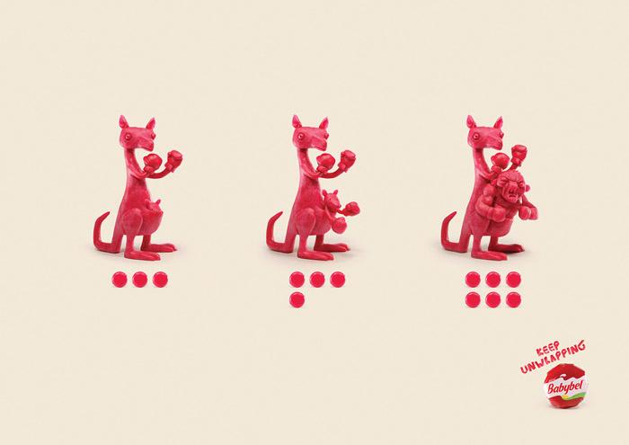 国外Babybel奶酪系列创意平面广告设计
