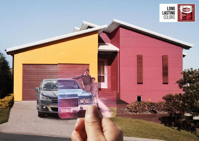 国外Sinteplast墙体涂料系列创意广告设计欣赏