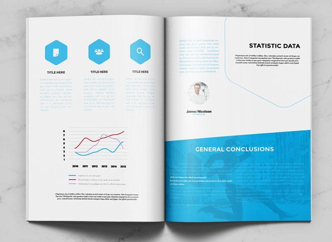 国外运用六边形元素的商务杂志设计欣赏