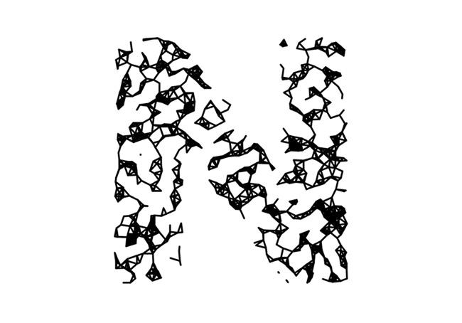 国外Wires Sparse概念线条26个英文字母字体设计欣赏