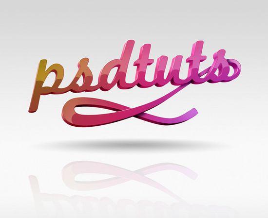 国外设计师Brant Wilson优秀3D字体设计作品(二)