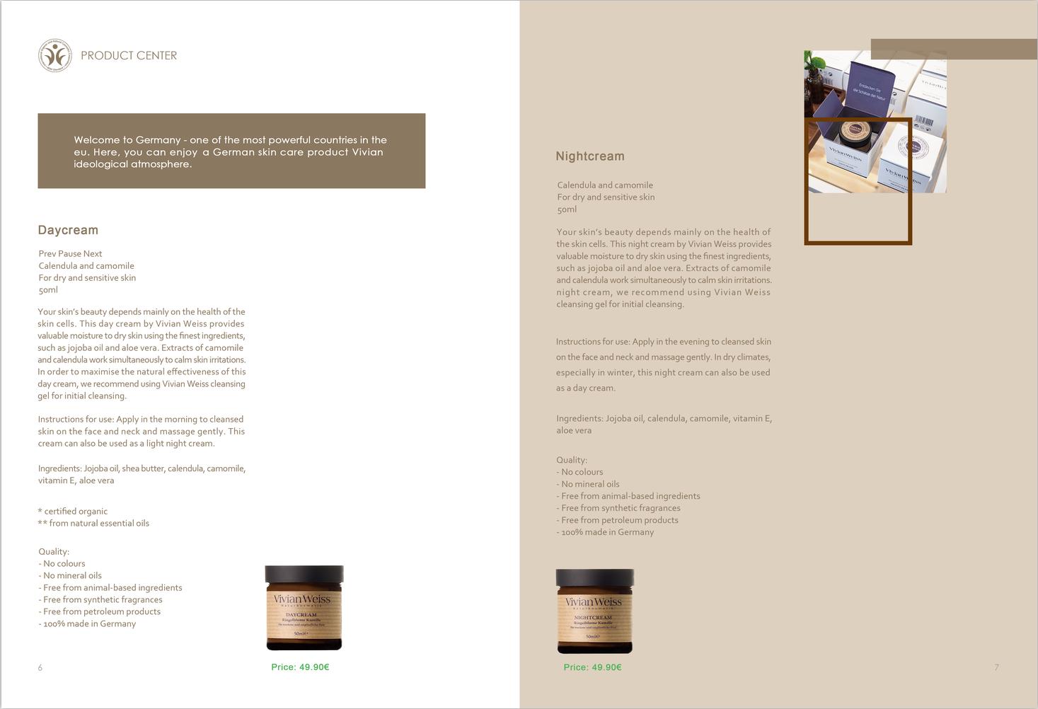 精油 护肤品画册设计