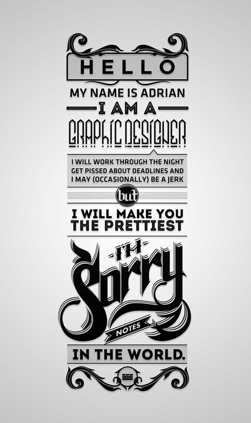 国外字体设计之Adrian Iorga精彩字体作品赏析