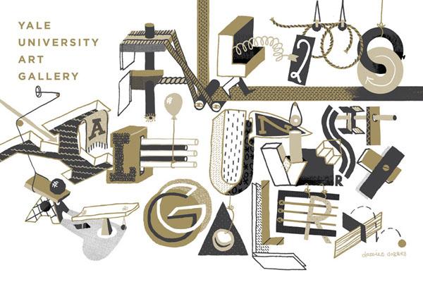 国外字体设In Black And Gold项目参展作品欣赏(一)