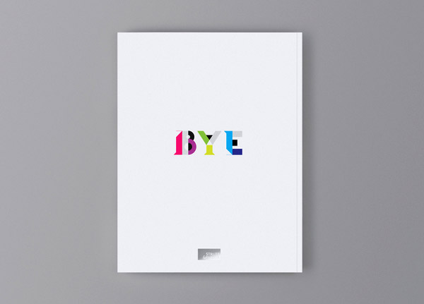 &London杂志时尚彩色字体设计